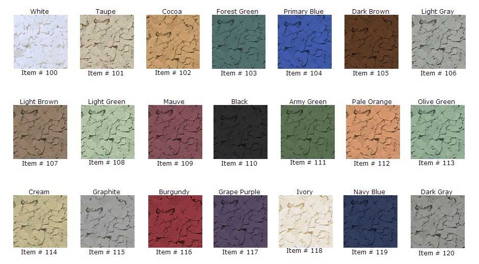 Epoxy Floors Color Flakes Choices by Witcraft Painting