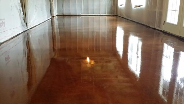 Copper Metallic Epoxy Floor In Apex Nc By Witcraft