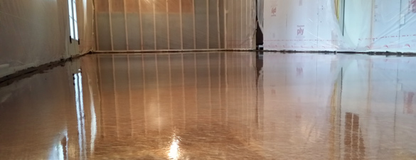 Copper Metallic Epoxy Floor In Apex Nc By Witcraft