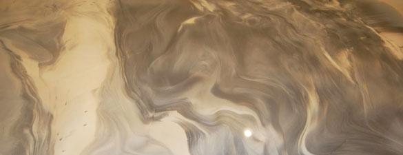 Beazer Homes Showroom Raleigh 0051 Silver Pearl Metallic Floor FEATURE 585X225